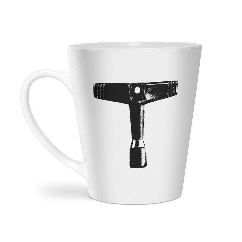 Drum Key (Black Logo) Accessories Latte Mug by Drum Geek Online Shop