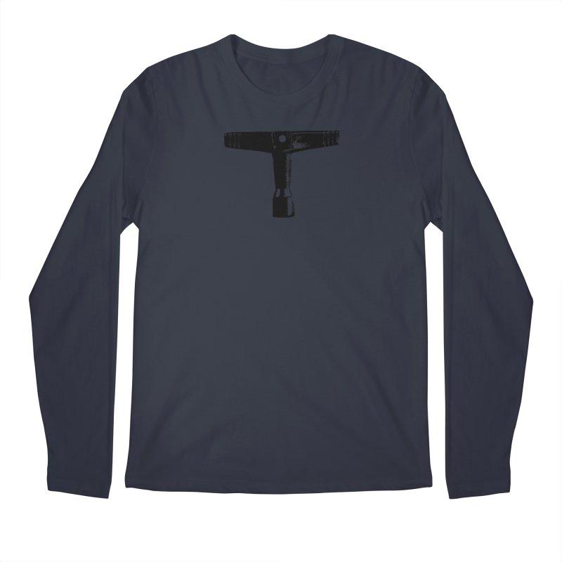 Drum Key (Black Logo) Men's Regular Longsleeve T-Shirt by Drum Geek Online Shop