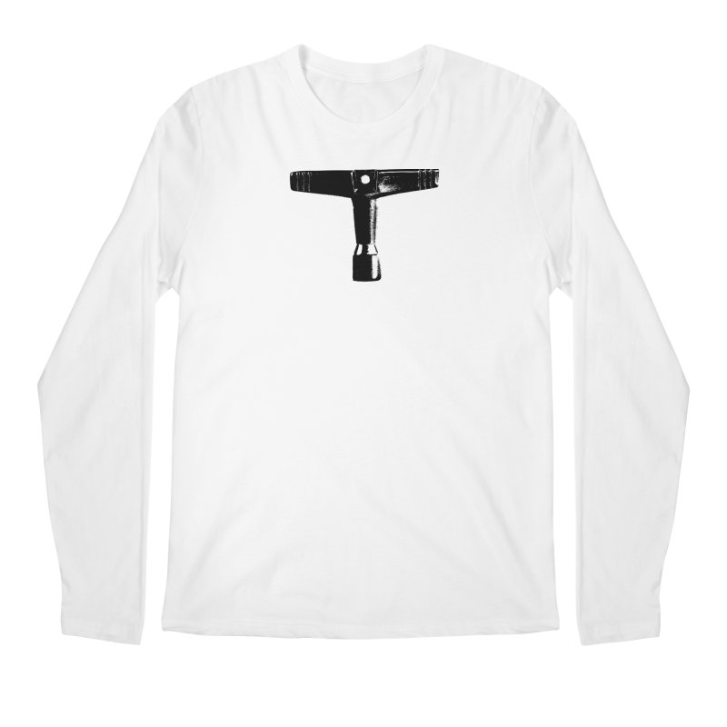 Drum Key (Black Logo) Men's Regular Longsleeve T-Shirt by Drum Geek Online Shop