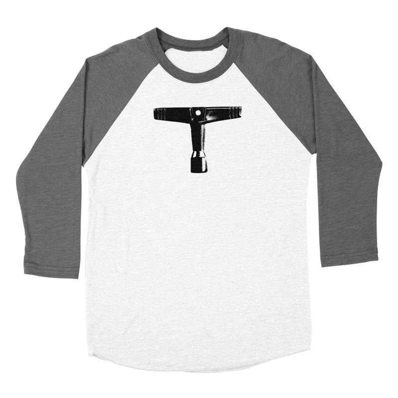 Drum Key (Black Logo) Women's Baseball Triblend Longsleeve T-Shirt by Drum Geek Online Shop