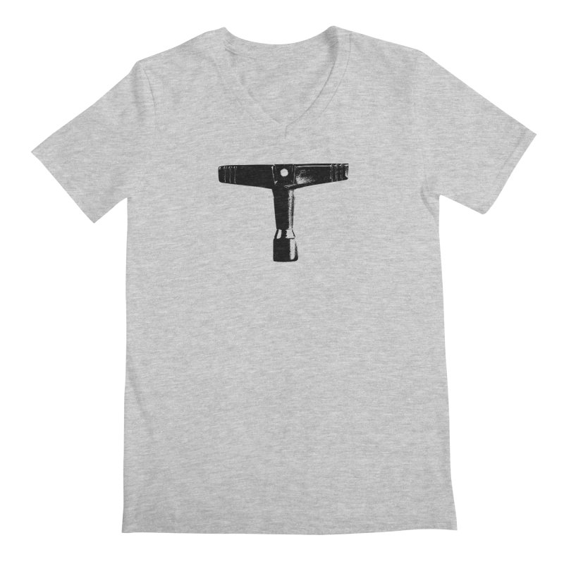 Drum Key (Black Logo) Men's Regular V-Neck by Drum Geek Online Shop