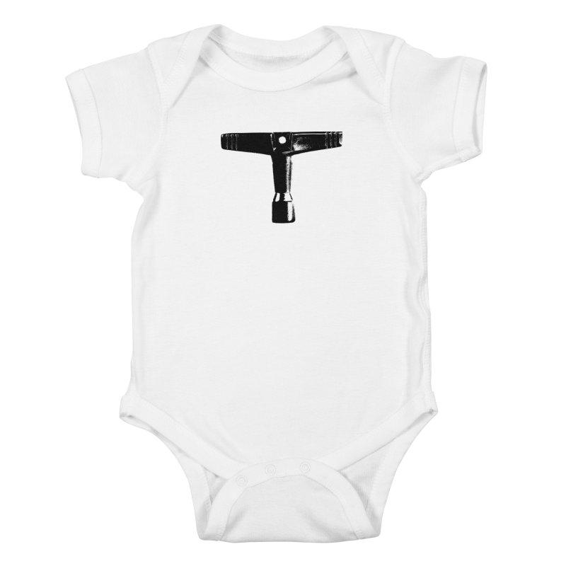 Drum Key (Black Logo) Kids Baby Bodysuit by Drum Geek Online Shop