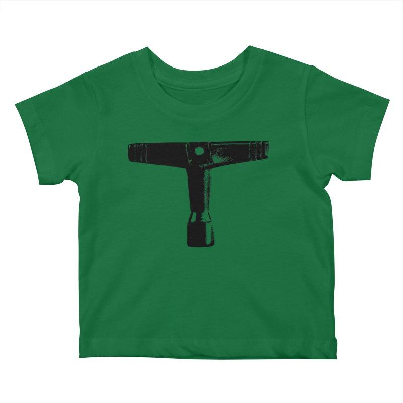 Drum Key (Black Logo) Kids Baby T-Shirt by Drum Geek Online Shop