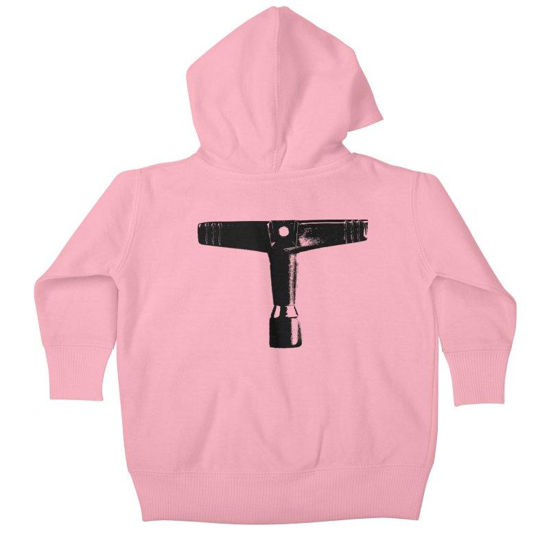 Drum Key (Black Logo) Kids Baby Zip-Up Hoody by Drum Geek Online Shop