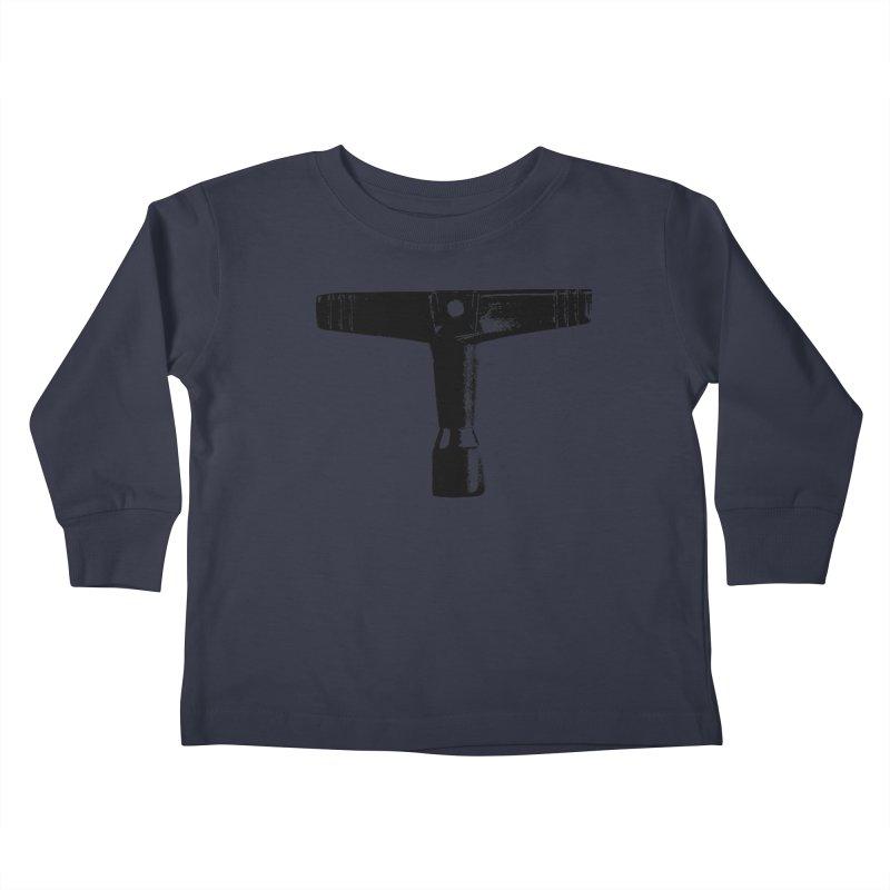 Drum Key (Black Logo) Kids Toddler Longsleeve T-Shirt by Drum Geek Online Shop