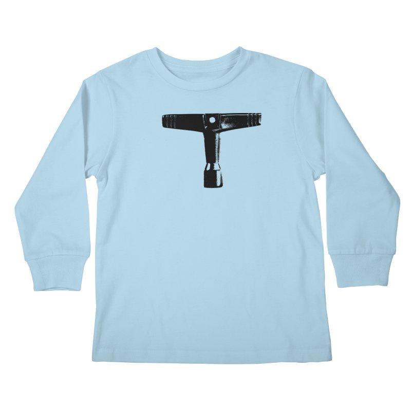 Drum Key (Black Logo) Kids Longsleeve T-Shirt by Drum Geek Online Shop