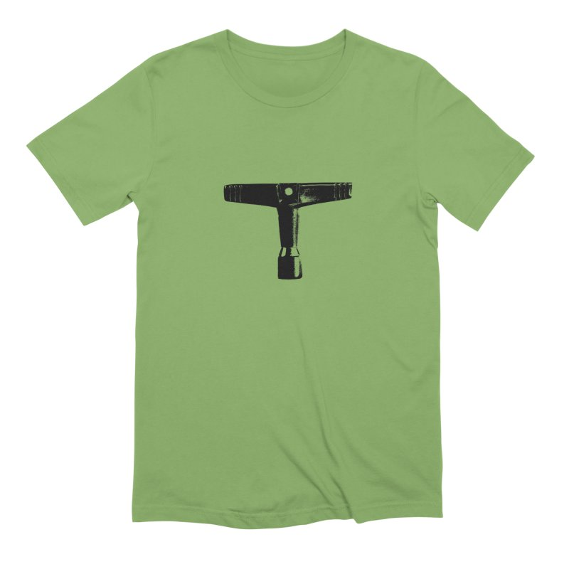 Drum Key (Black Logo) Men's Extra Soft T-Shirt by Drum Geek Online Shop