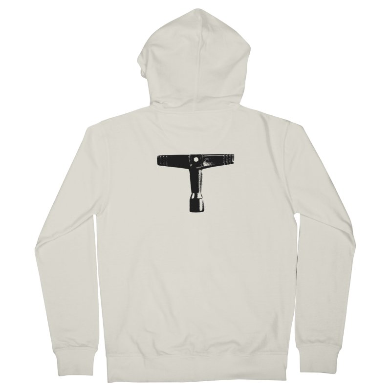 Drum Key - Black Logo Men's Zip-Up Hoody by Drum Geek Online Shop
