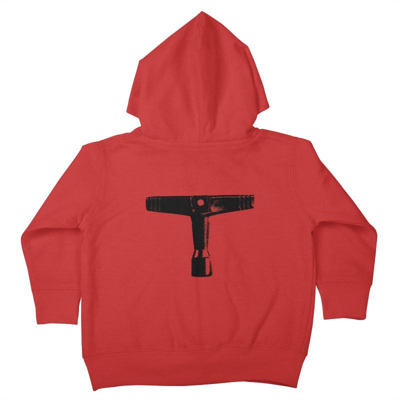 Drum Key - Black Logo Kids Toddler Zip-Up Hoody by Drum Geek Online Shop
