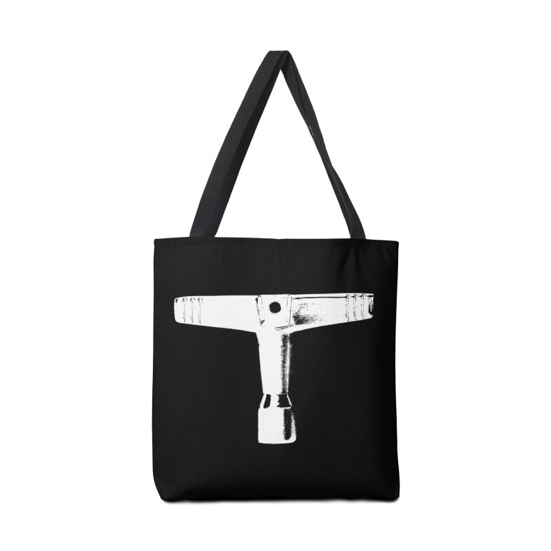 Drum Key - White Logo Accessories Tote Bag Bag by Drum Geek Online Shop