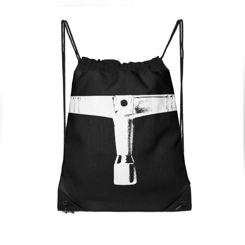Drum Key (White Logo) Accessories Drawstring Bag Bag by Drum Geek Online Shop