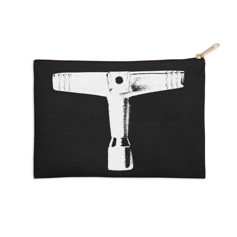 Drum Key (White Logo) Accessories Zip Pouch by Drum Geek Online Shop