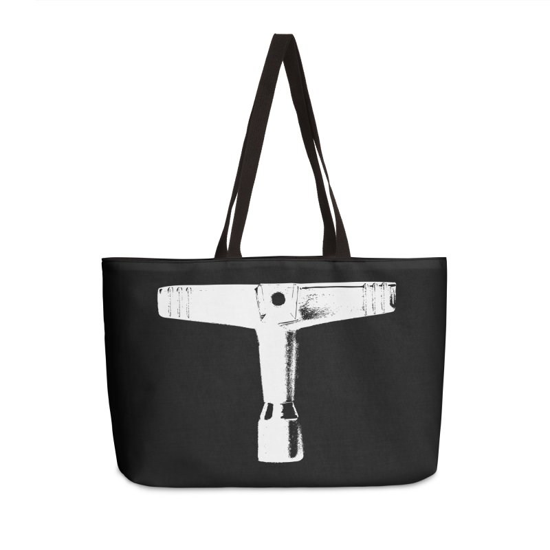 Drum Key - White Logo Accessories Weekender Bag Bag by Drum Geek Online Shop