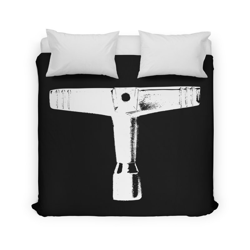 Drum Key - White Logo Home Duvet by Drum Geek Online Shop