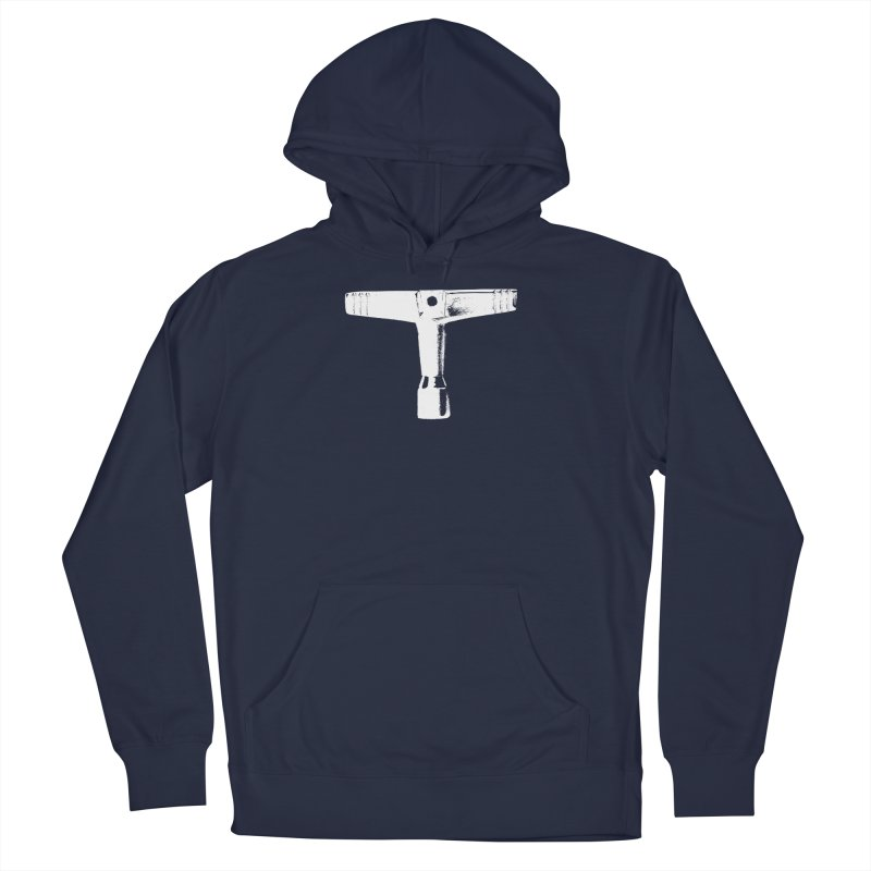Drum Key (White Logo) Men's Pullover Hoody by Drum Geek Online Shop
