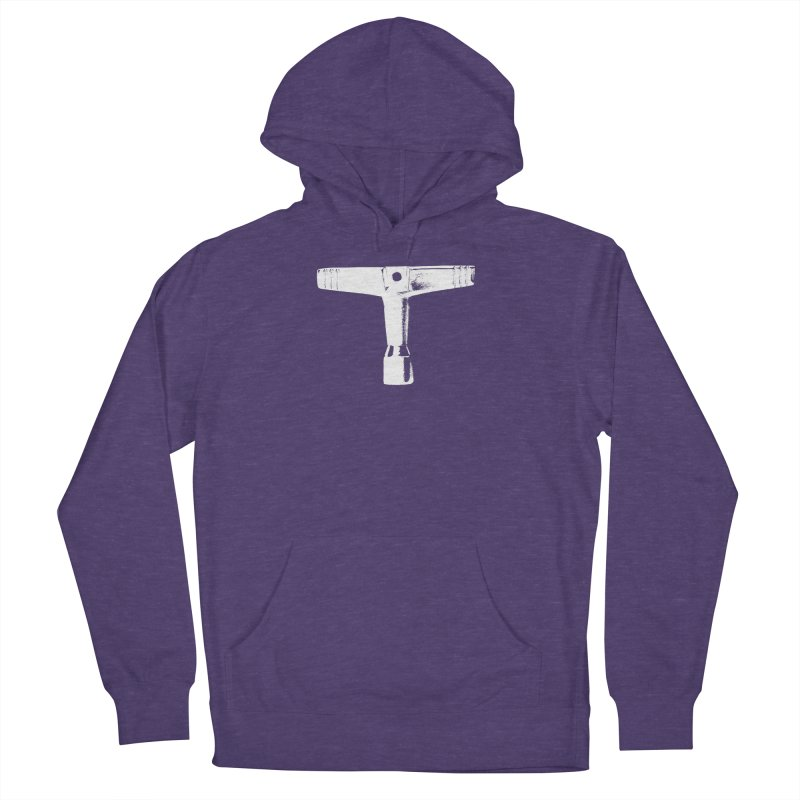 Drum Key (White Logo) Women's French Terry Pullover Hoody by Drum Geek Online Shop