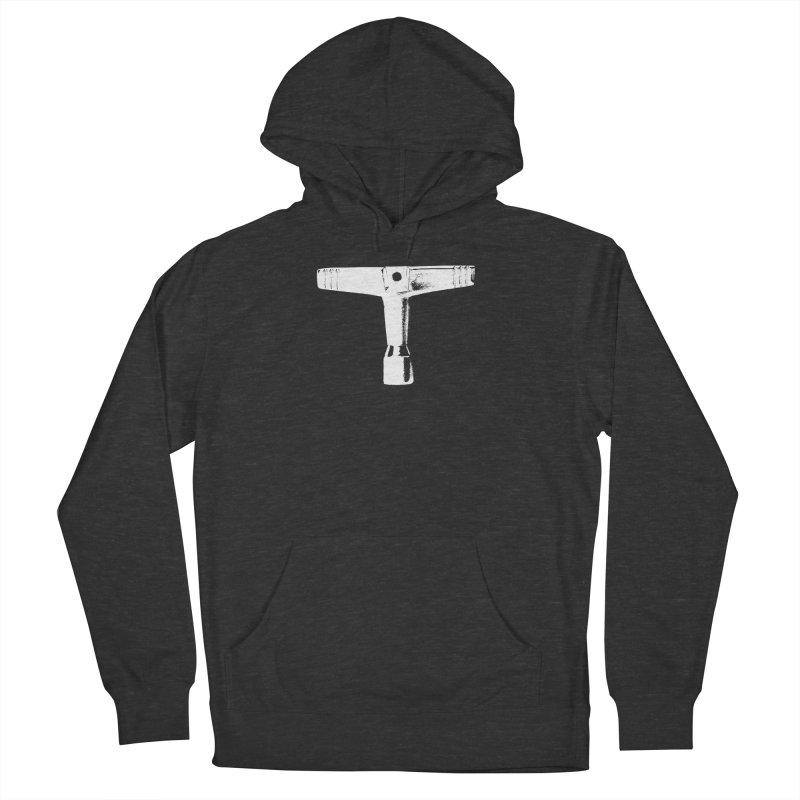 Drum Key (White Logo) Men's French Terry Pullover Hoody by Drum Geek Online Shop