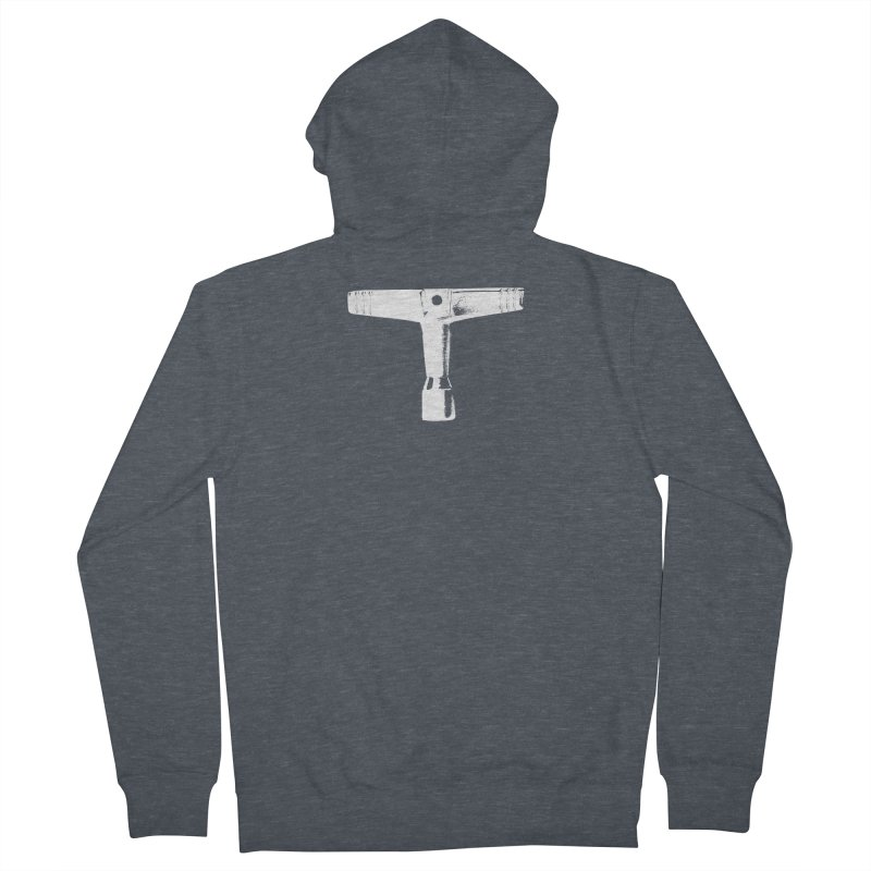 Drum Key (White Logo) Women's French Terry Zip-Up Hoody by Drum Geek Online Shop