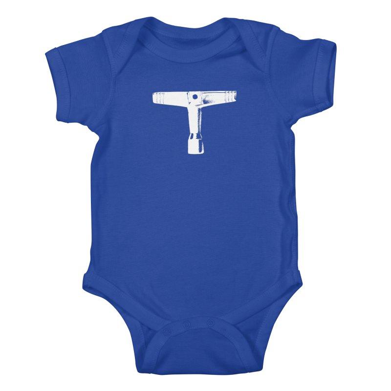 Drum Key (White Logo) Kids Baby Bodysuit by Drum Geek Online Shop