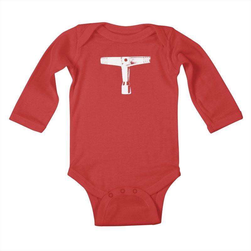 Drum Key (White Logo) Kids Baby Longsleeve Bodysuit by Drum Geek Online Shop