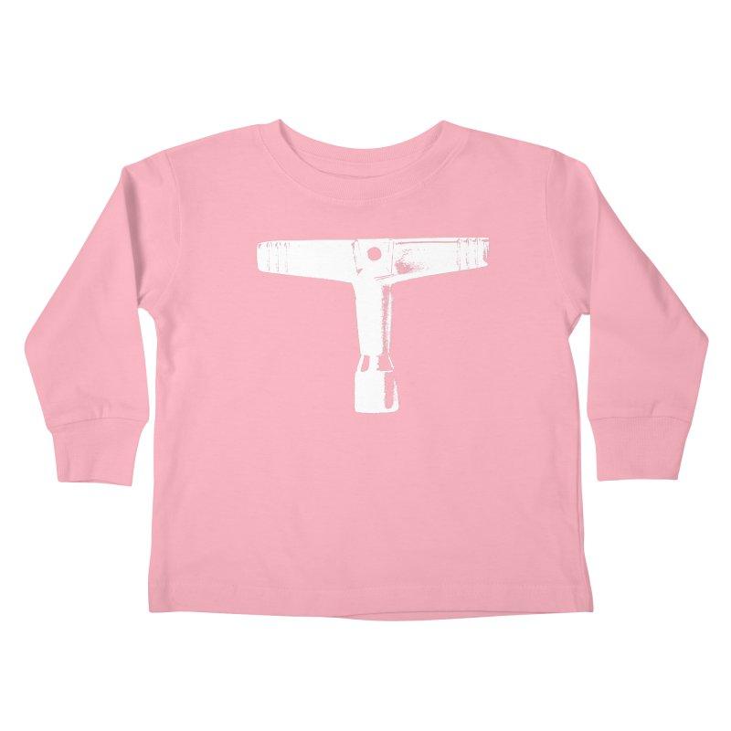 Drum Key (White Logo) Kids Toddler Longsleeve T-Shirt by Drum Geek Online Shop