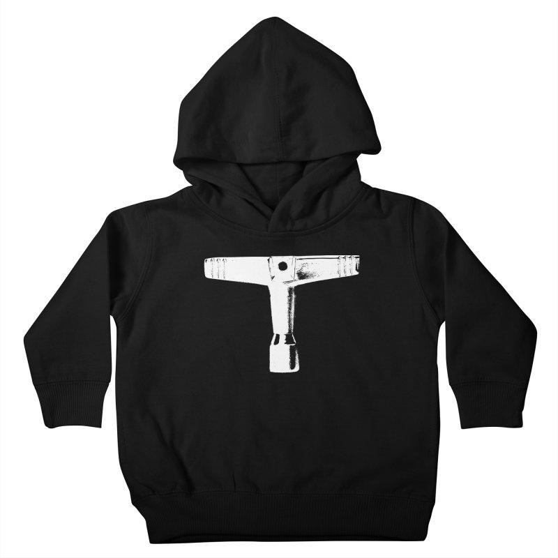 Drum Key (White Logo) Kids Toddler Pullover Hoody by Drum Geek Online Shop