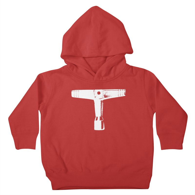 Drum Key (White Logo) Kids Toddler Pullover Hoody by Drum Geek Online Shop