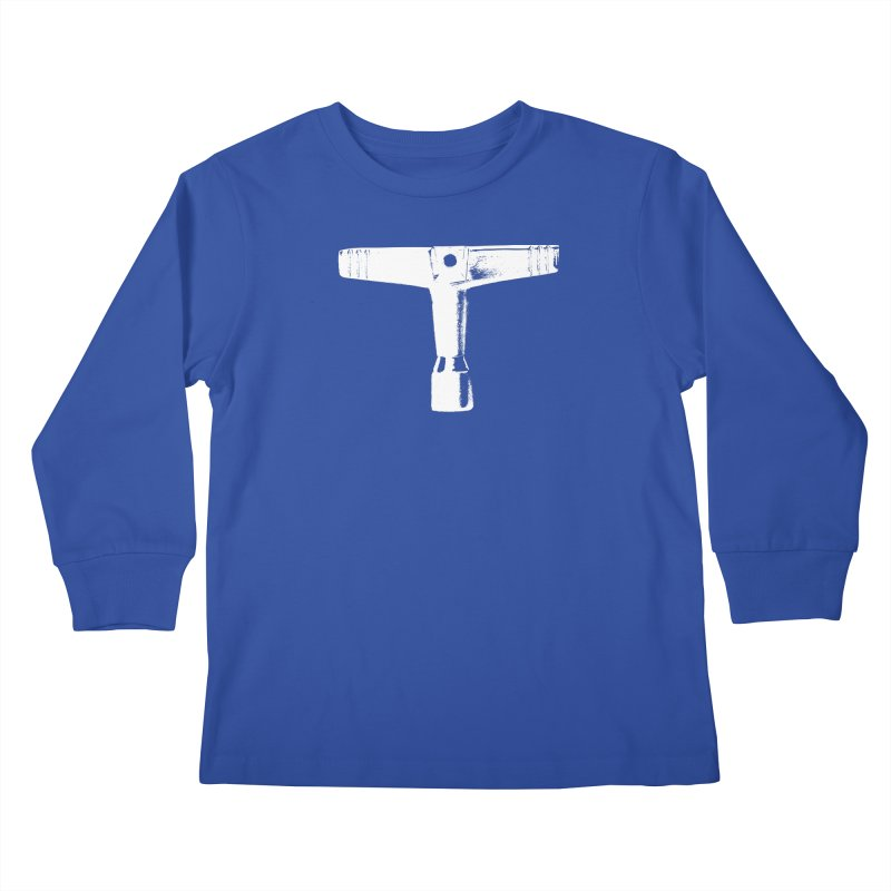 Drum Key (White Logo) Kids Longsleeve T-Shirt by Drum Geek Online Shop