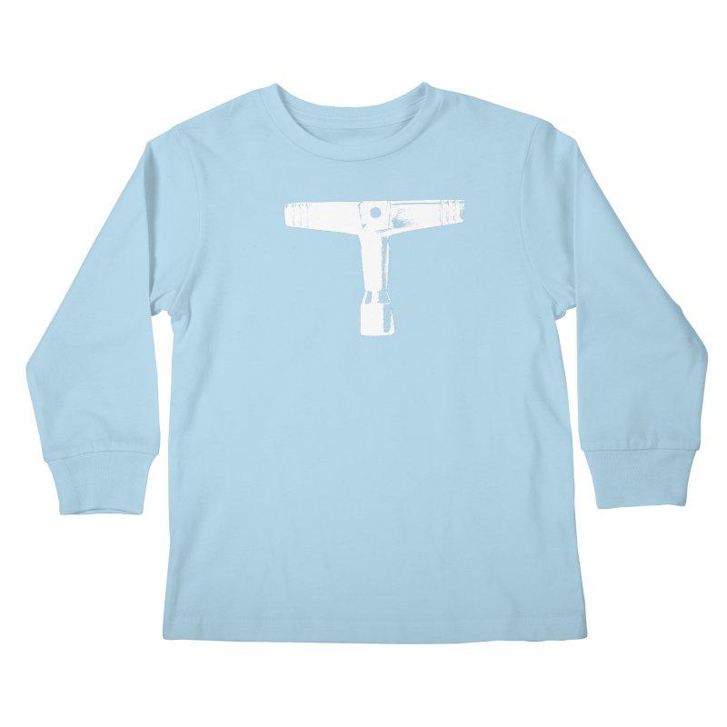 Drum Key (White Logo) Kids Longsleeve T-Shirt by Drum Geek Online Shop