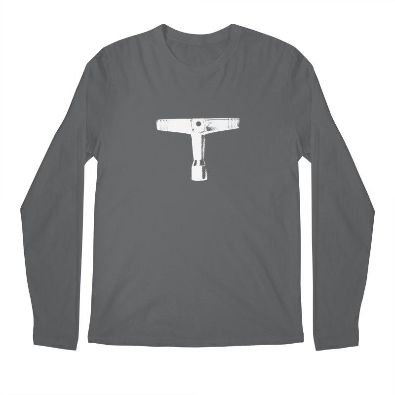 Drum Key (White Logo) Men's Longsleeve T-Shirt by Drum Geek Online Shop