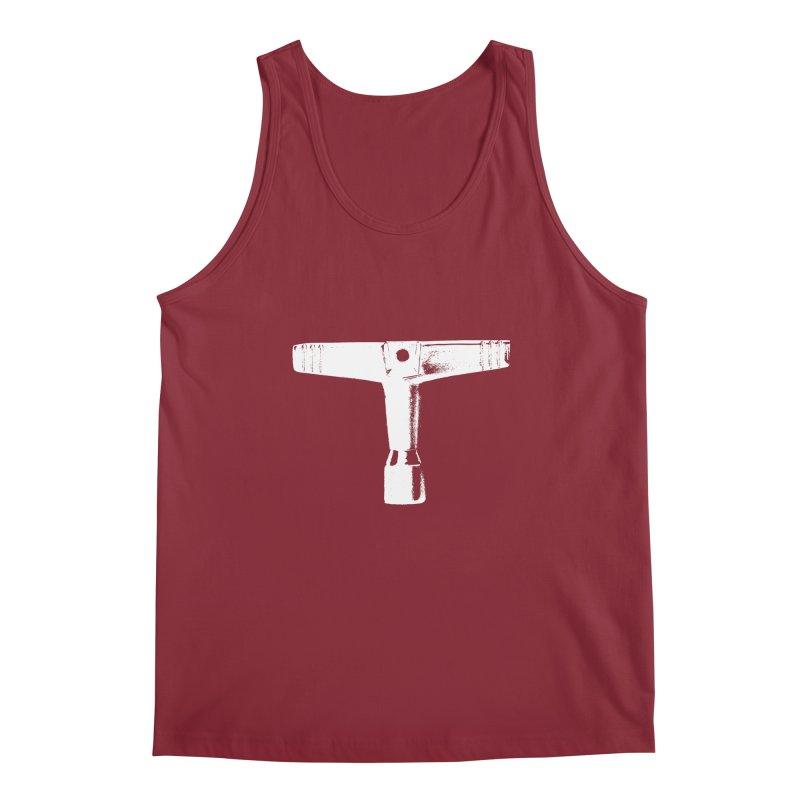 Drum Key - White Logo Men's Tank by Drum Geek Online Shop