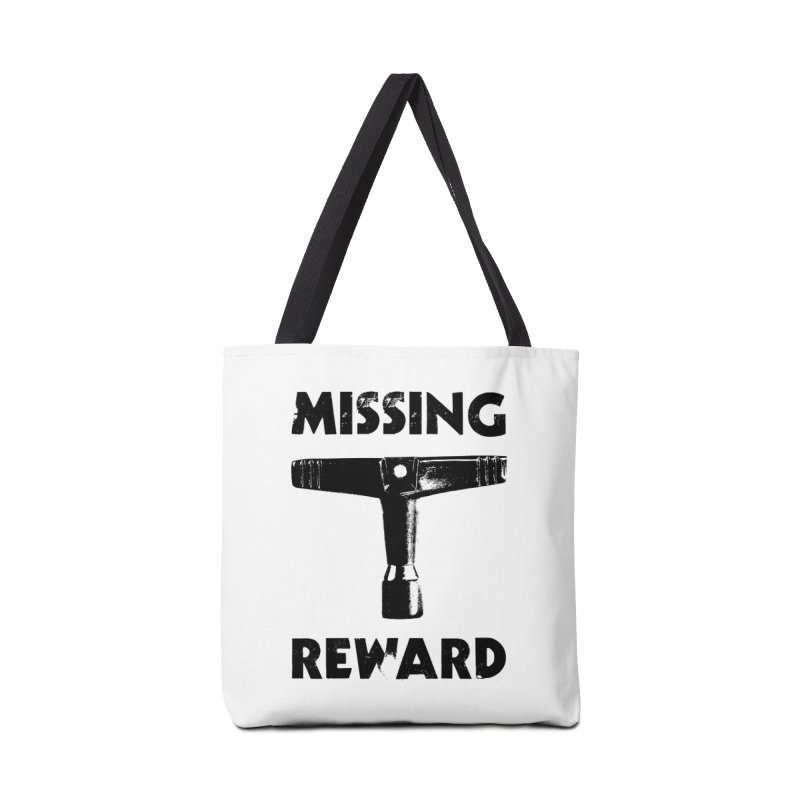 Missing Drum Key - Black Logo Accessories Tote Bag Bag by Drum Geek Online Shop