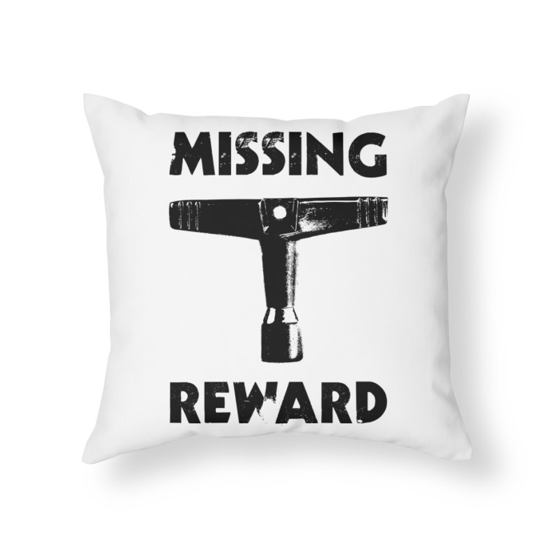 Missing Drum Key (Black Logo) Home Throw Pillow by Drum Geek Online Shop