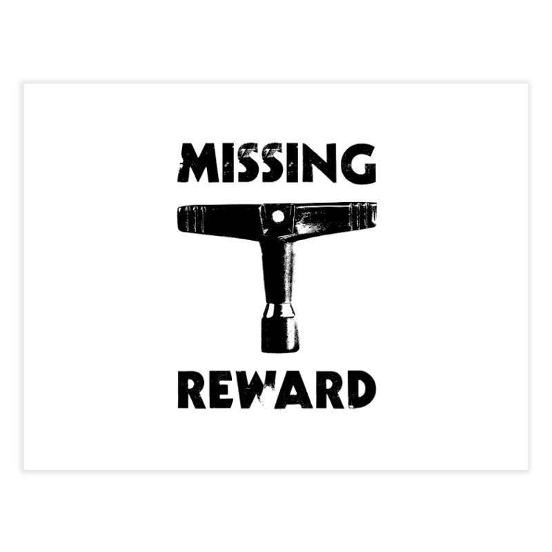 Missing Drum Key (Black Logo) Home Fine Art Print by Drum Geek Online Shop