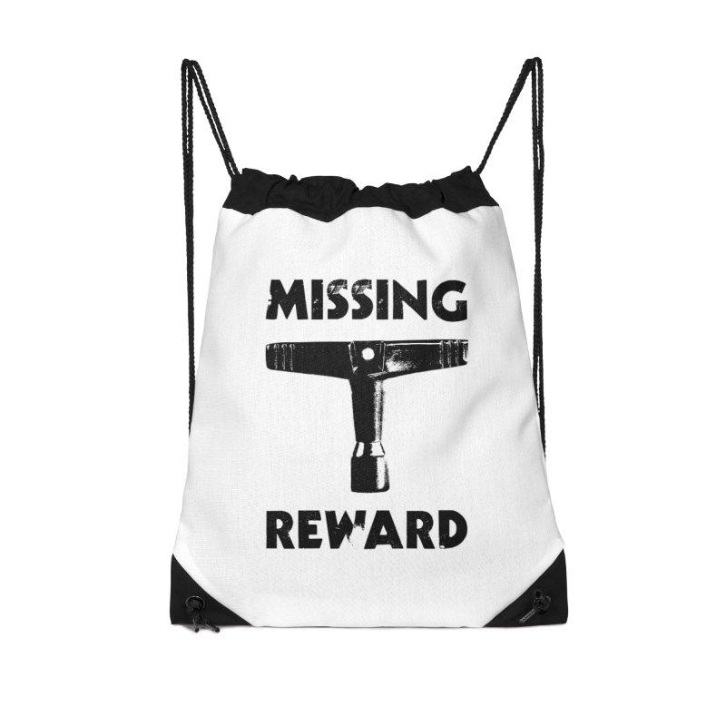 Missing Drum Key (Black Logo) Accessories Drawstring Bag Bag by Drum Geek Online Shop