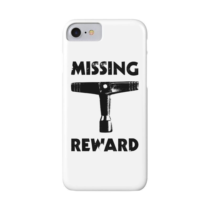 Missing Drum Key - Black Logo Accessories Phone Case by Drum Geek Online Shop