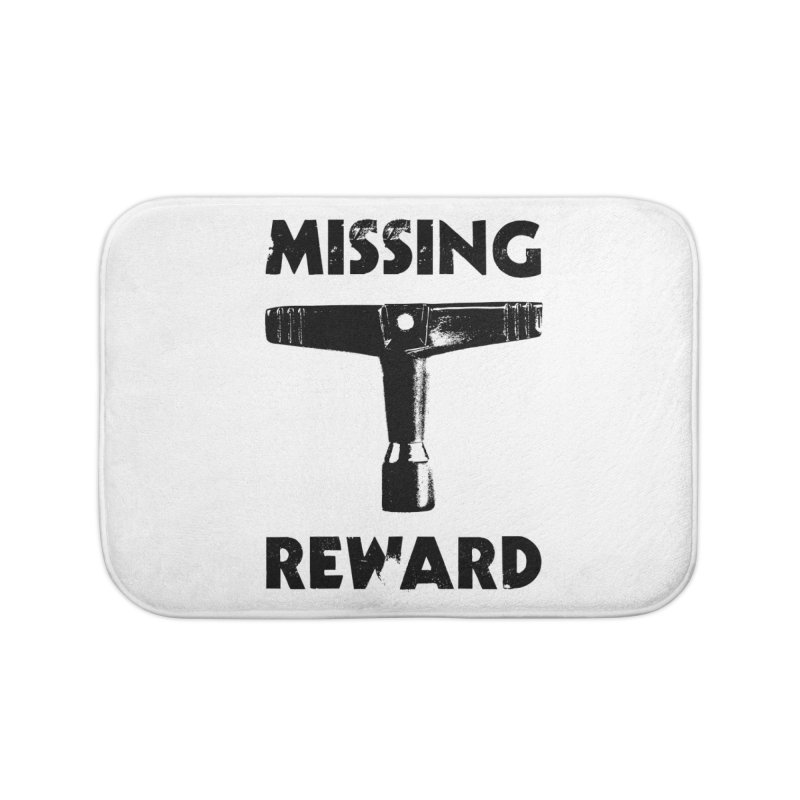Missing Drum Key - Black Logo Home Bath Mat by Drum Geek Online Shop