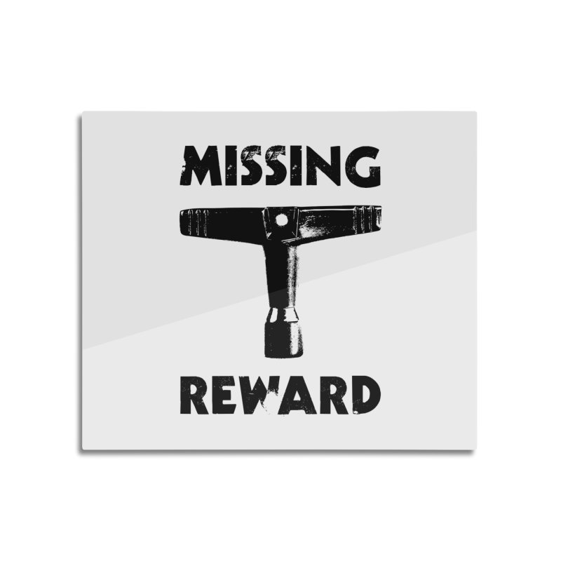 Missing Drum Key - Black Logo Home Mounted Acrylic Print by Drum Geek Online Shop