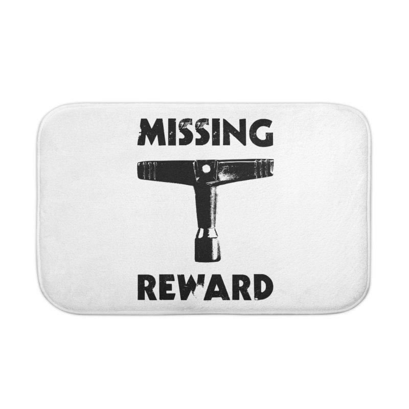 Missing Drum Key - Black Logo Home Bath Mat by Drum Geek Online Shop