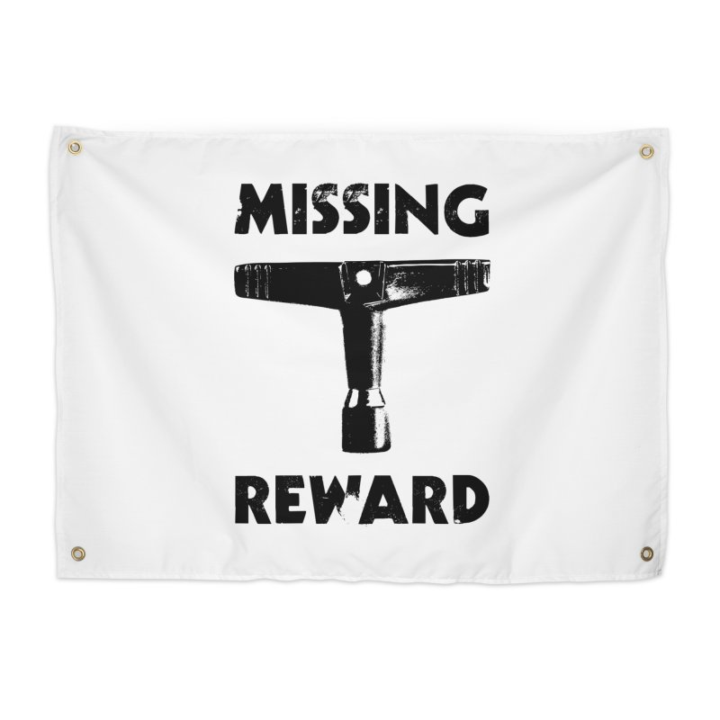Missing Drum Key (Black Logo) Home Tapestry by Drum Geek Online Shop