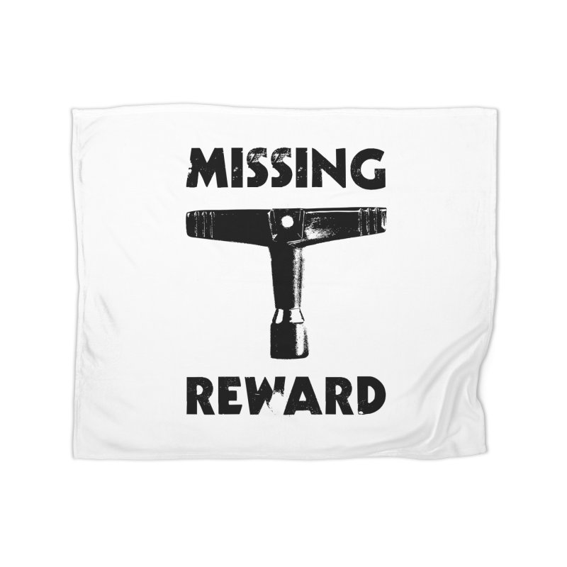 Missing Drum Key (Black Logo) Home Fleece Blanket Blanket by Drum Geek Online Shop