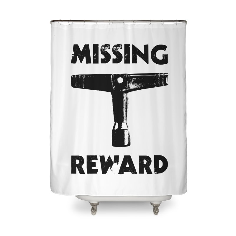 Missing Drum Key (Black Logo) Home Shower Curtain by Drum Geek Online Shop