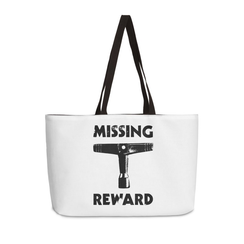 Missing Drum Key - Black Logo Accessories Weekender Bag Bag by Drum Geek Online Shop