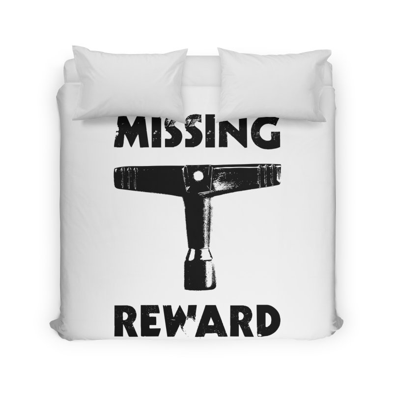 Missing Drum Key - Black Logo Home Duvet by Drum Geek Online Shop