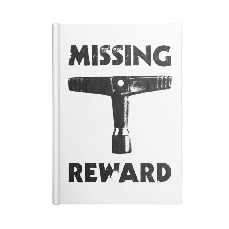 Missing Drum Key - Black Logo Accessories Blank Journal Notebook by Drum Geek Online Shop