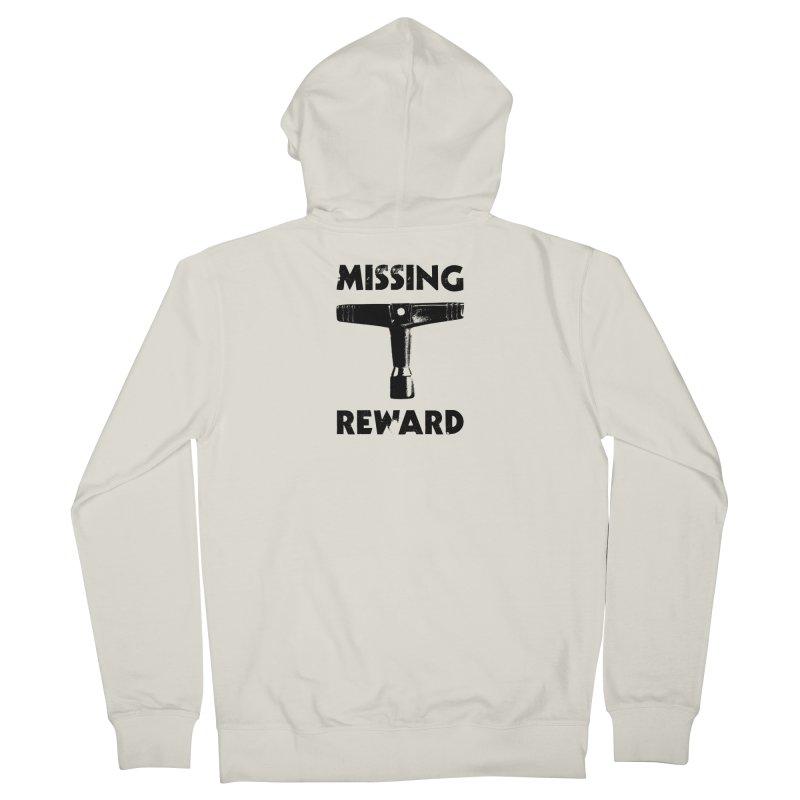 Missing Drum Key - Black Logo Men's Zip-Up Hoody by Drum Geek Online Shop