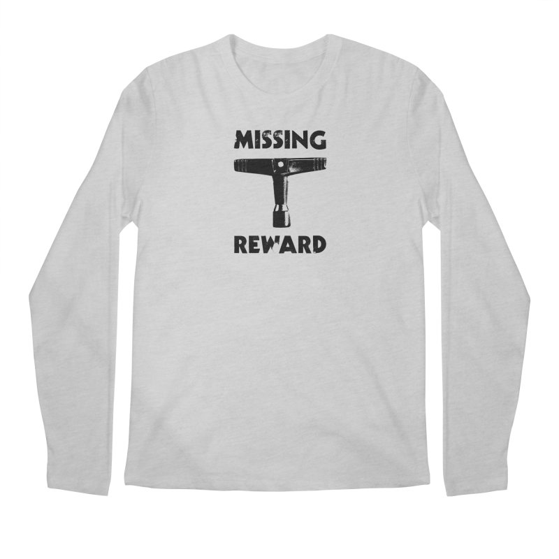Missing Drum Key (Black Logo) Men's Regular Longsleeve T-Shirt by Drum Geek Online Shop