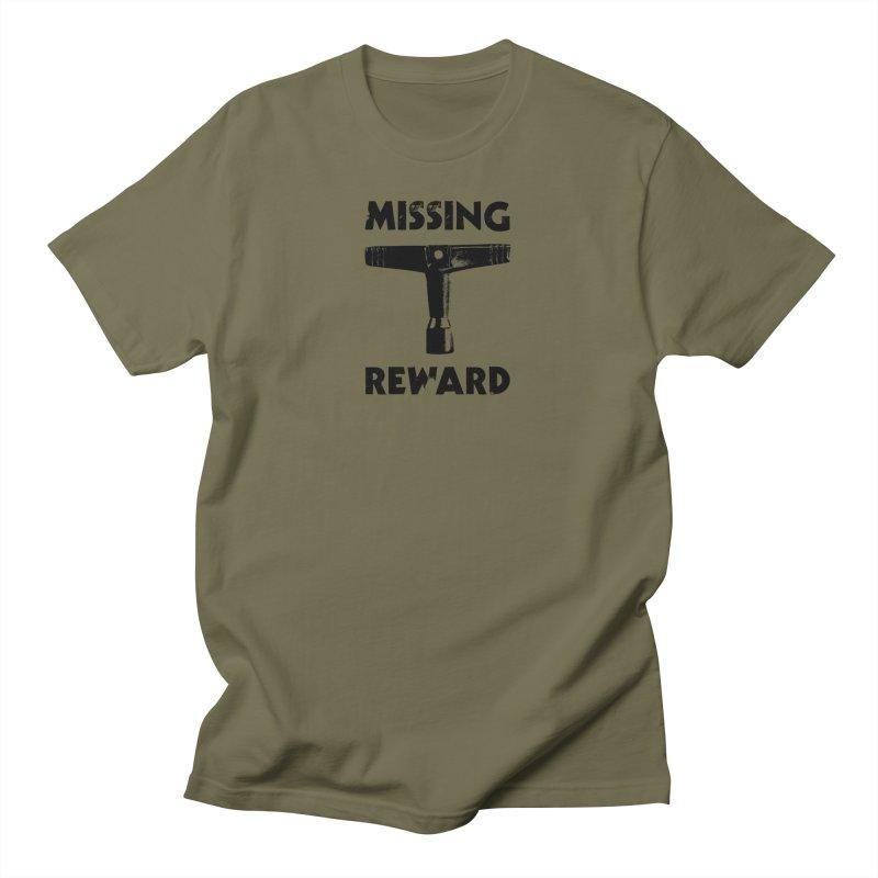Missing Drum Key - Black Logo Men's T-Shirt by Drum Geek Online Shop
