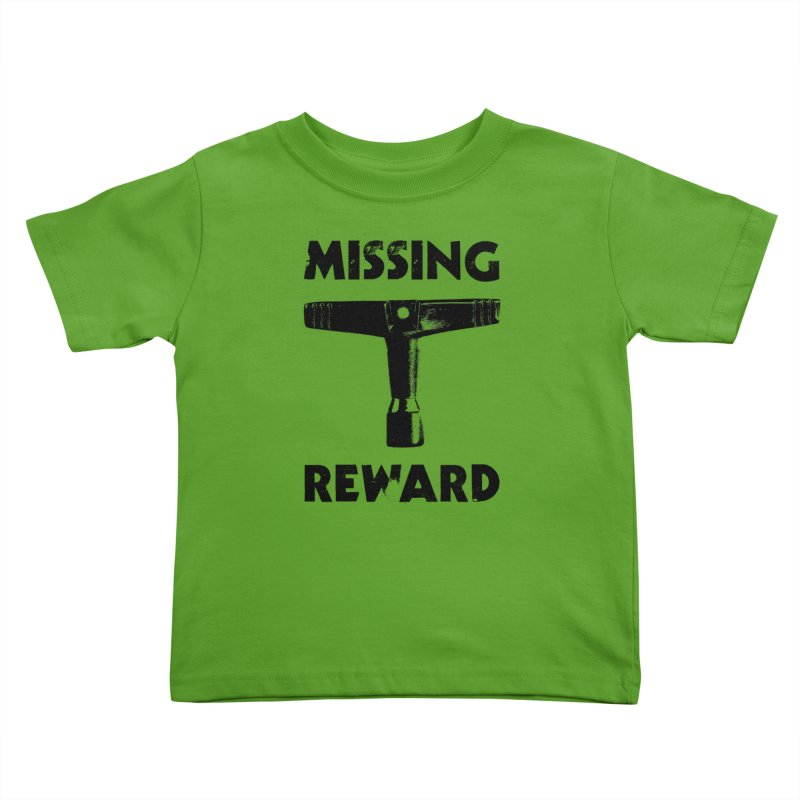 Missing Drum Key (Black Logo) Kids Toddler T-Shirt by Drum Geek Online Shop