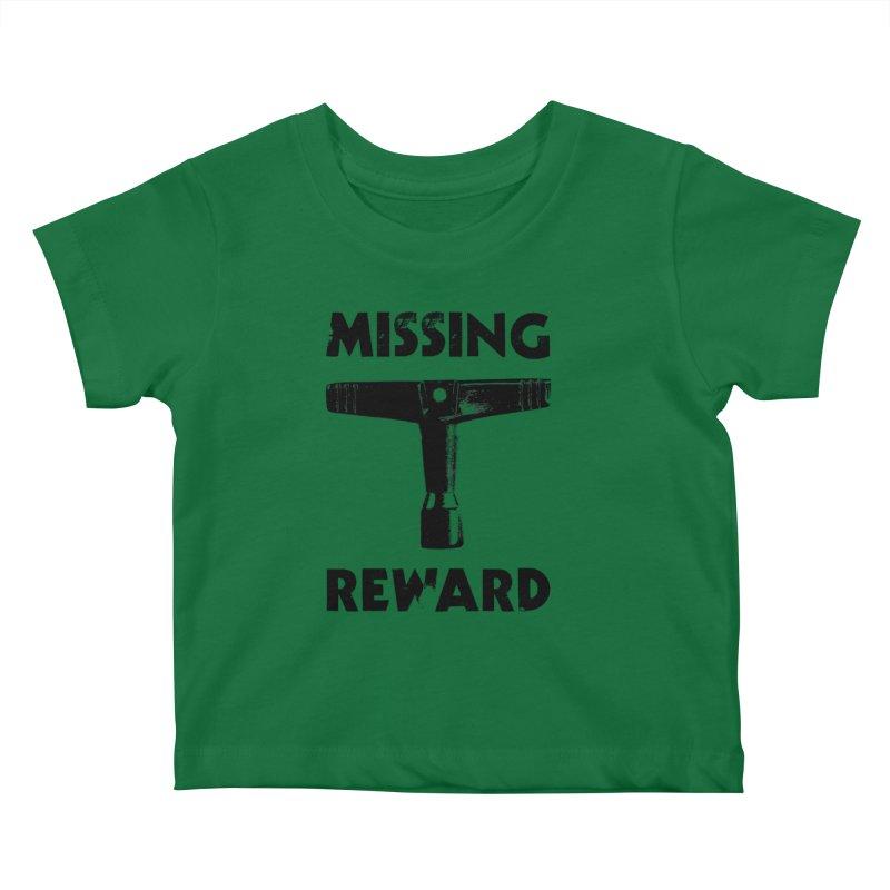 Missing Drum Key (Black Logo) Kids Baby T-Shirt by Drum Geek Online Shop